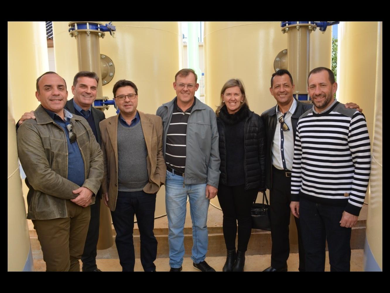 Foto de capa da notícia Vereadores participam de inauguração da ETA COMPACTA