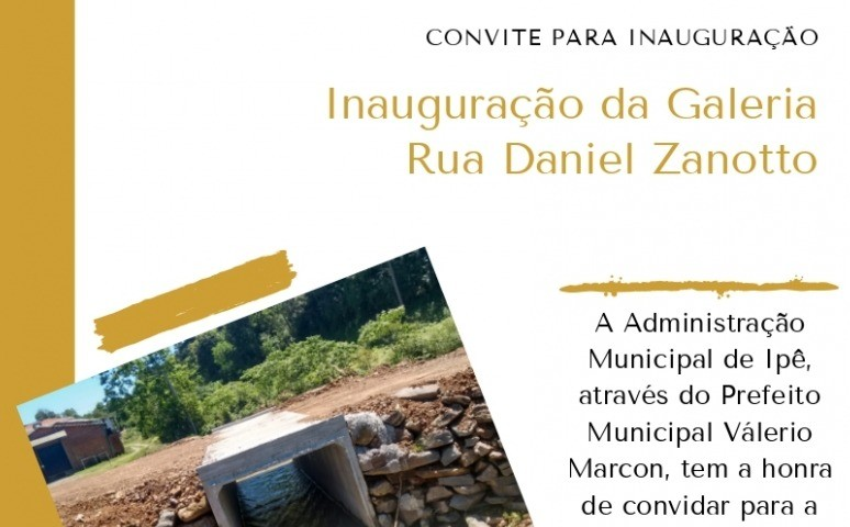 Foto de capa da notícia Administração de Ipê entrega mais uma obra para a comunidade