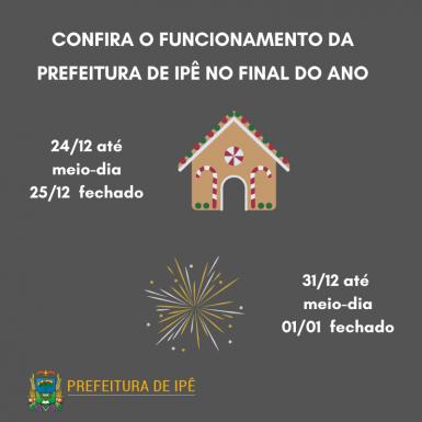 Foto de capa da notícia: Prefeitura de Ipê informa