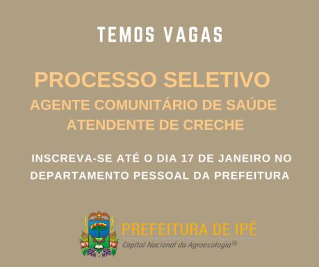Foto de capa da notícia: Prefeitura de Ipê publica edital para processo seletivo
