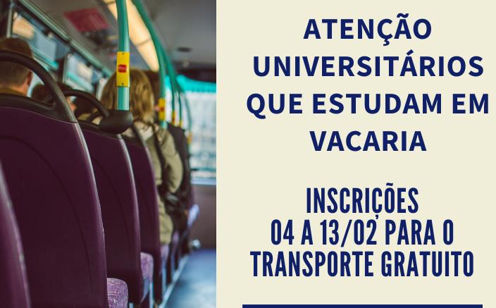 Foto de capa da notícia Atenção universitários que estudam em Vacaria