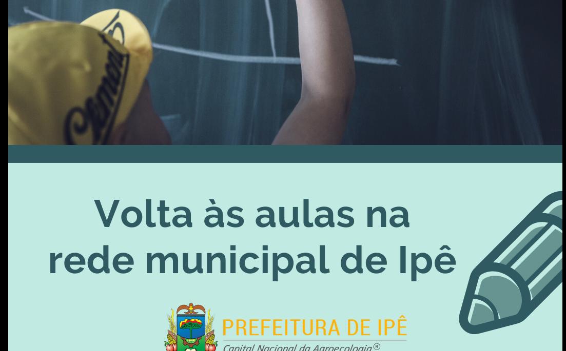 Foto de capa da notícia Volta às aulas na rede municipal de ensino de Ipê