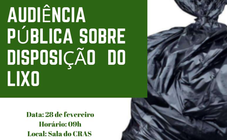 Foto de capa da notícia Audiência pública irá debater a disposição correta do lixo na rua