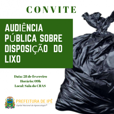 Foto de capa da notícia: Audiência pública irá debater a disposição correta do lixo na rua