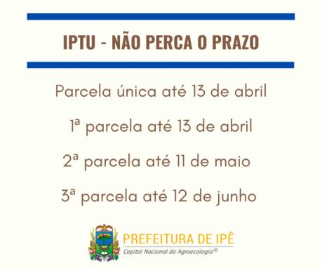 Foto de capa da notícia: Carnês de IPTU 2020 já estão sendo entregues em Ipê