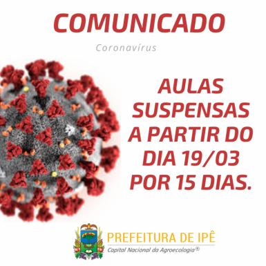 Foto de capa da notícia: Rede de ensino de Ipê adere a paralisação das aulas a partir do dia 19 de março