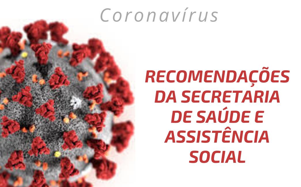 Foto de capa da notícia: COMUNICADO DA SECRETARIA MUNICIPAL DE SAÚDE À RESPEITO DO CORONAVÍRUS (COVID-19)