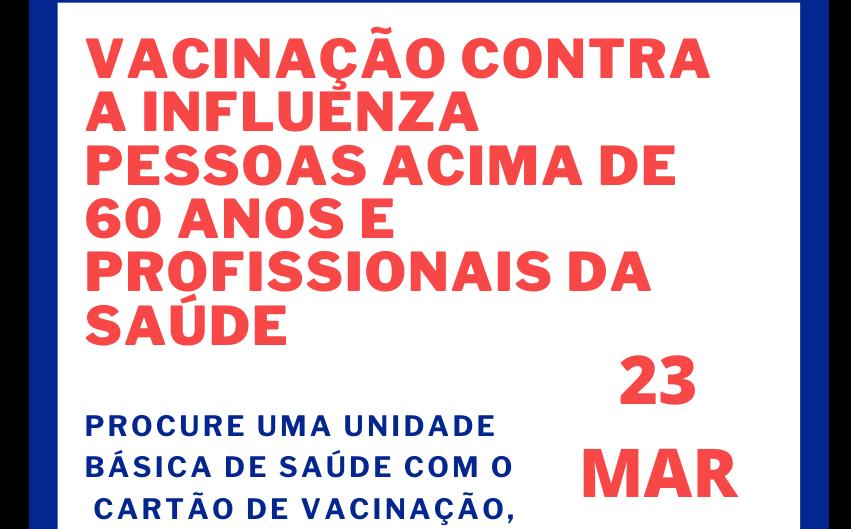 Foto de capa da notícia: Atenção para os locais de vacinação dos idosos e profissionais de saúde em Ipê