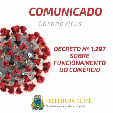 Foto de capa da notícia: Administração de Ipê flexibiliza atendimento do comércio