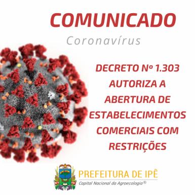 Foto de capa da notícia: Administração de Ipê autoriza abertura do comércio com restrições