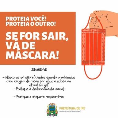 Foto de capa da notícia: Uso de máscaras em locais públicos passa a ser obrigatório para ipeenses.
