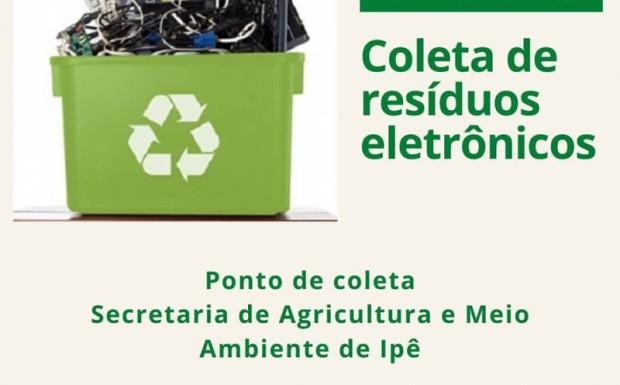 Foto de capa da notícia: Coleta de resíduos eletrônicos em Ipê no mês de junho