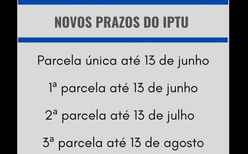 Foto de capa da notícia Atenção para o vencimento do IPTU