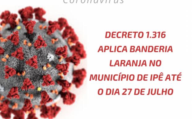 Foto de capa da notícia: Bandeira laranja em Ipê