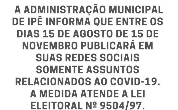 Foto de capa da notícia: Informações sobre publicações no período eleitoral
