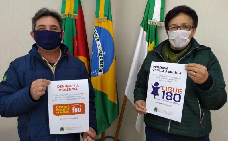 Foto de capa da notícia Divulgação do Disque 180 e Disque 100