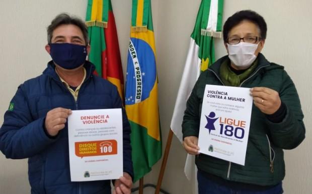 Foto de capa da notícia: Divulgação do Disque 180 e Disque 100