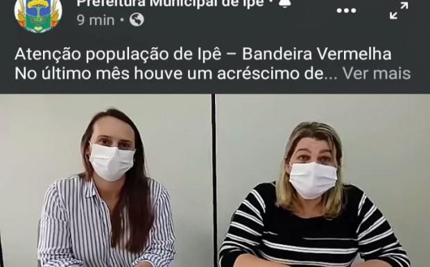 Foto de capa da notícia: Atenção população de Ipê – Bandeira Vermelha