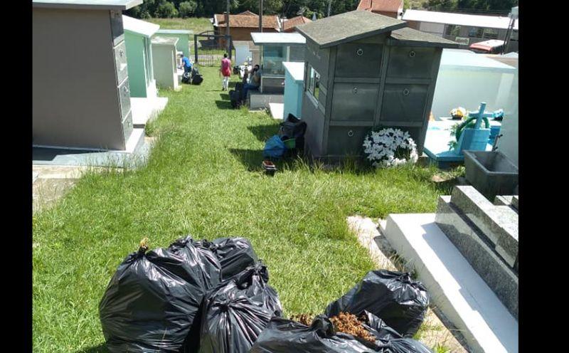 Foto de capa da notícia Limpeza do cemitério no combate ao mosquito da dengue