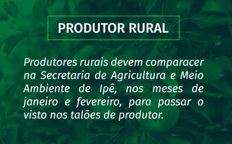 Foto de capa da notícia: Visto nos talões de produtor rural