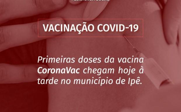 Foto de capa da notícia: A Secretaria de Saúde recebe hoje as primeiras doses da Vacina contra o Covid-19