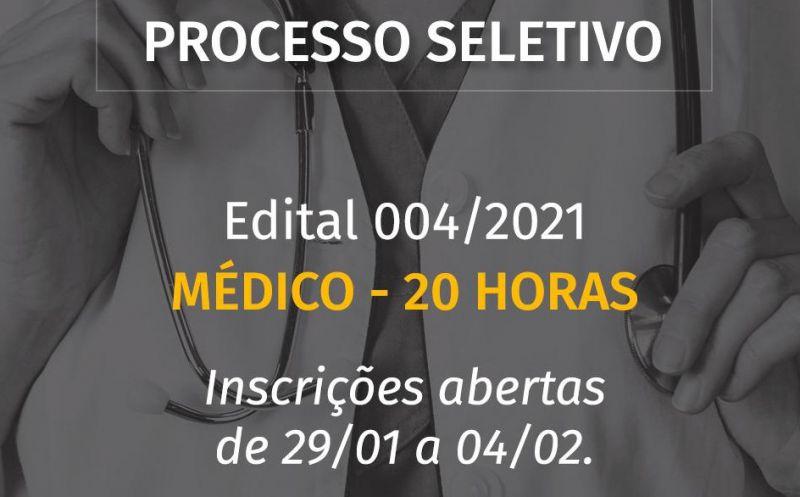 Foto de capa da notícia Aberto PROCESSO SELETIVO para Médico.