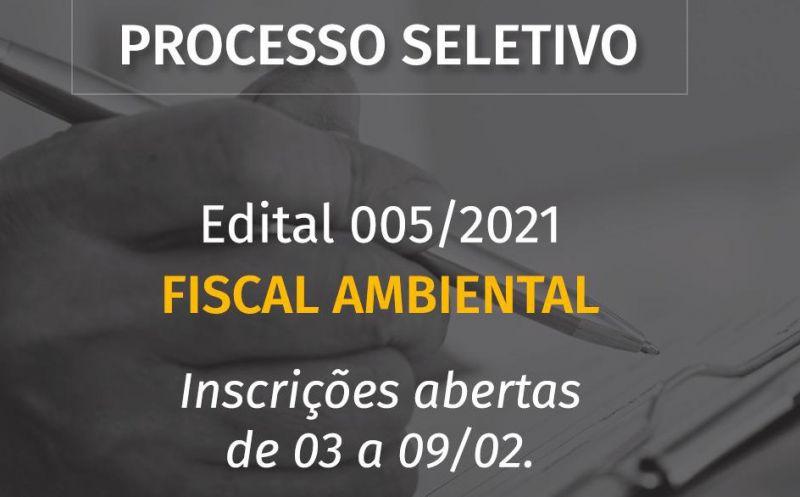 Foto de capa da notícia Aberto PROCESSO SELETIVO para FISCAL AMBIENTAL