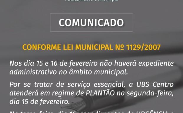 Foto de capa da notícia: MUNICÍPIO MANTÉM FERIADO AOS SERVIDORES MAS GARANTE ATENDIMENTO NA SAÚDE.