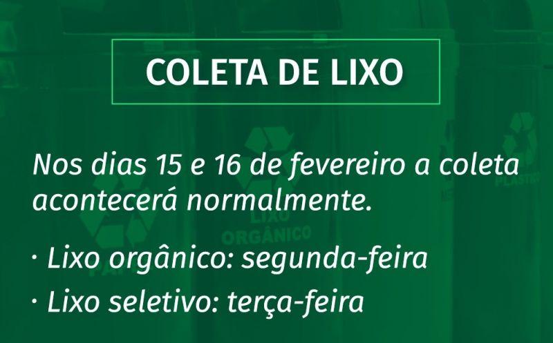Foto de capa da notícia COLETA DE LIXO DURANTE O FERIADO
