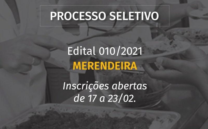 Foto de capa da notícia ABERTO PROCESSO SELETIVO PARA MERENDEIRA