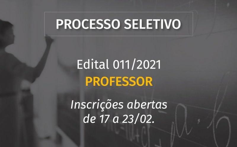 Foto de capa da notícia ABERTO PROCESSO SELETIVO PARA PROFESSOR