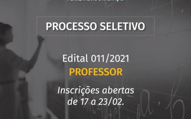 Foto de capa da notícia: ABERTO PROCESSO SELETIVO PARA PROFESSOR