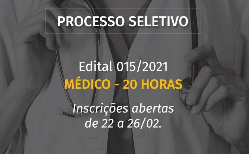 Foto de capa da notícia ABERTO PROCESSO SELETIVO PARA MÉDICO 20 HORAS