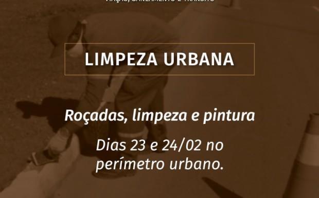 Foto de capa da notícia: CIDADE RECEBE LIMPEZA URBANA