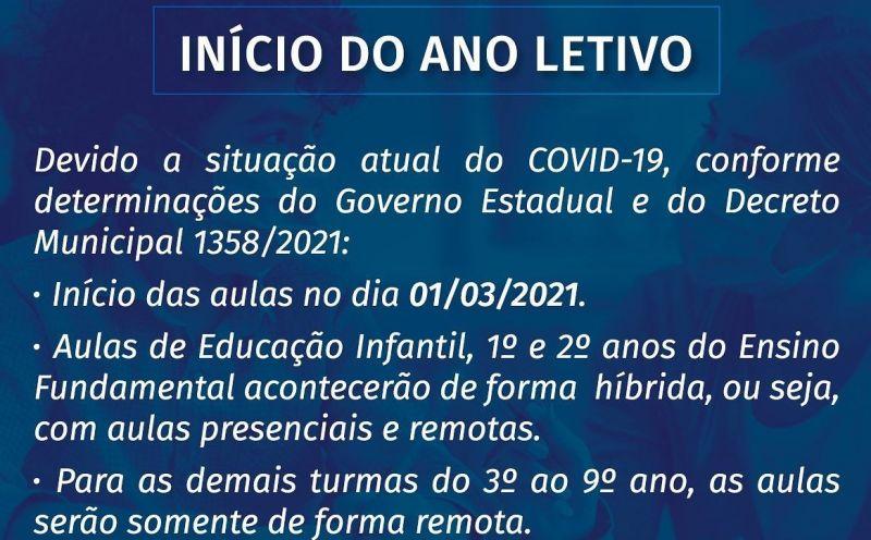 Foto de capa da notícia: ANO LETIVO INICIA DIA 1° DE MARÇO