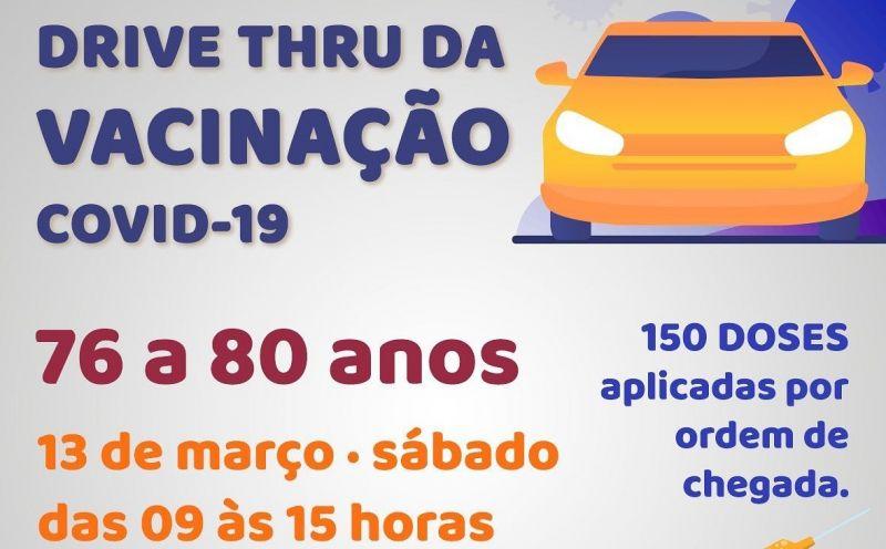 Foto de capa da notícia PREFEITURA REALIZA DRIVE TRHU DE VACINAÇÃO NESTE SÁBADO