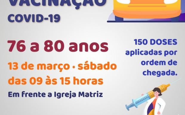 Foto de capa da notícia: PREFEITURA REALIZA DRIVE TRHU DE VACINAÇÃO NESTE SÁBADO