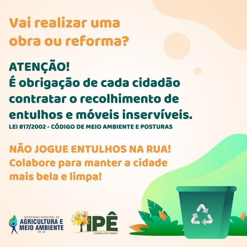 Foto de capa da notícia CIDADE LIMPA, IPÊ MAIS BELO!