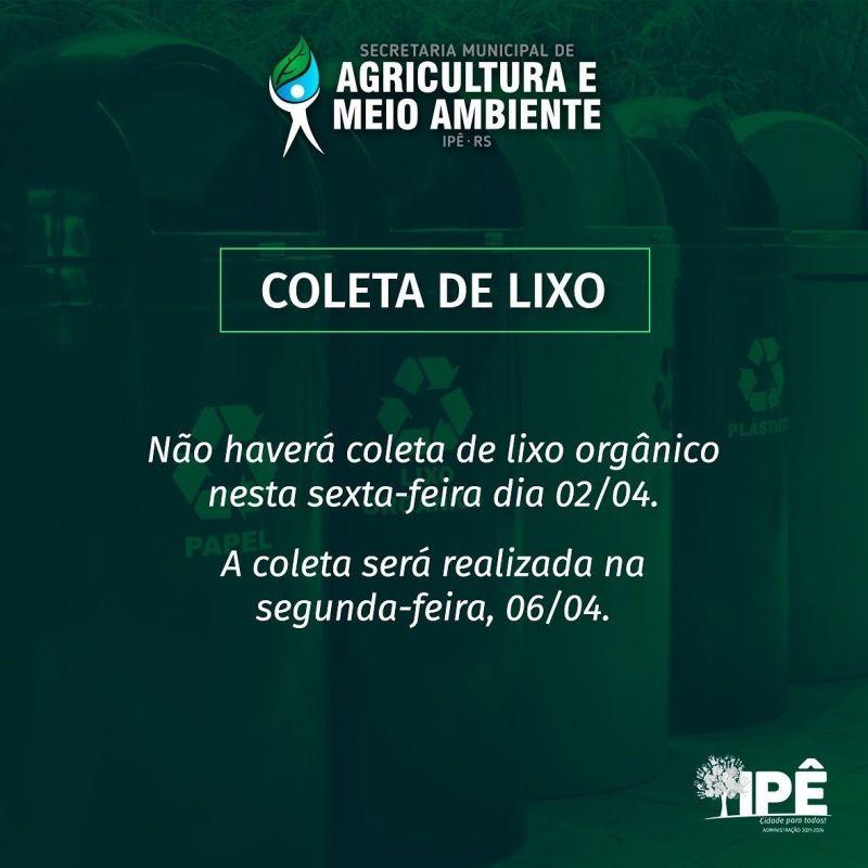 Foto de capa da notícia RECOLHIMENTO DE LIXO MUDARÁ NO FERIADO