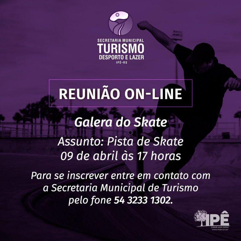 Foto de capa da notícia REUNIÃO COM SKATISTAS DEFINIRÁ PISTA DE SKATE!