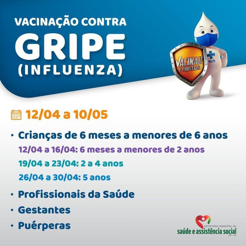 Foto de capa da notícia VACINAÇÃO CONTRA INFLUENZA JÁ INICIOU!