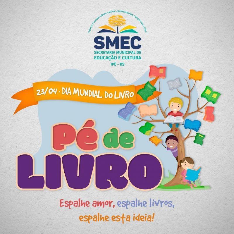 Foto de capa da notícia PROJETO PÉ DE LIVRO IRÁ COMEMORAR O DIA DO LIVRO