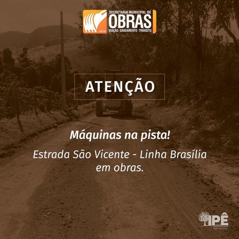 Foto de capa da notícia ATENÇÃO! ESTRADA EM OBRAS.