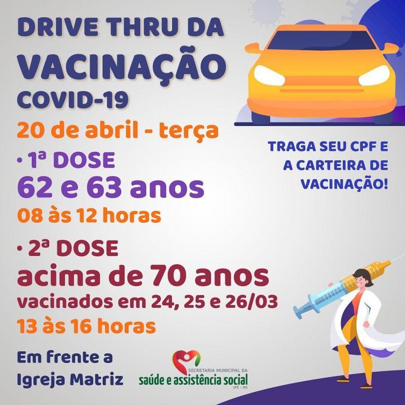 Foto de capa da notícia MAIS UM DRIVE THRU ACONTECERÁ NESTA TERÇA