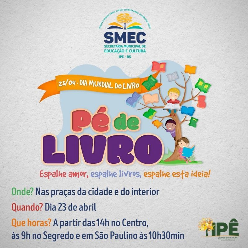 Foto de capa da notícia ACONTECEU NA ÚLTIMA SEXTA O DIA DO LIVRO!