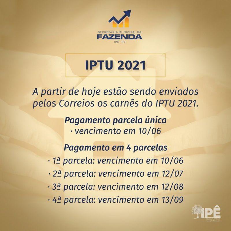 Foto de capa da notícia CARNÊS DO IPTU JÁ ESTÃO SENDO ENTREGUES EM IPÊ