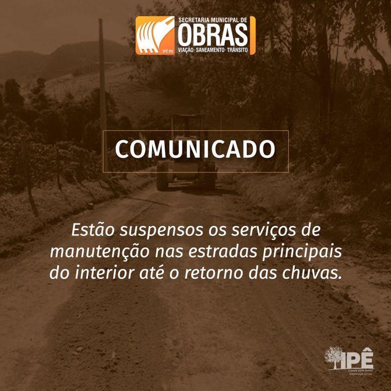 Foto de capa da notícia ESTIAGEM PREJUDICA OBRAS NAS ESTRADAS