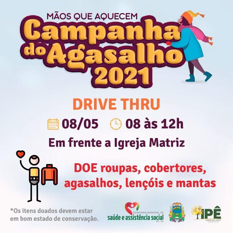 Foto de capa da notícia CAMPANHA DO AGASALHO 2021, MÃOS QUE AQUECEM!