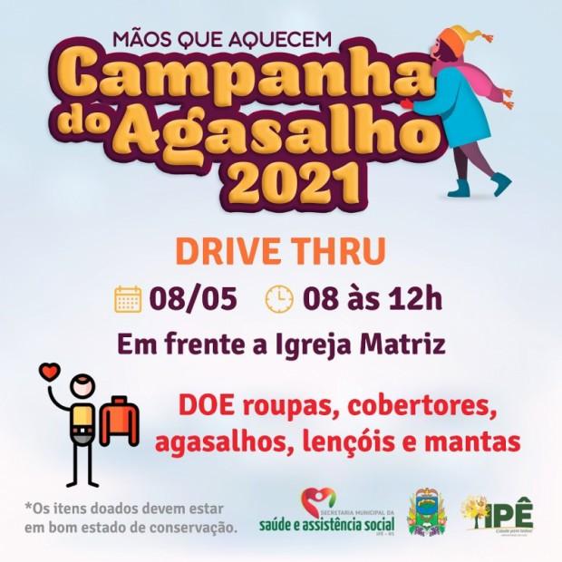 Foto de capa da notícia: CAMPANHA DO AGASALHO 2021, MÃOS QUE AQUECEM!