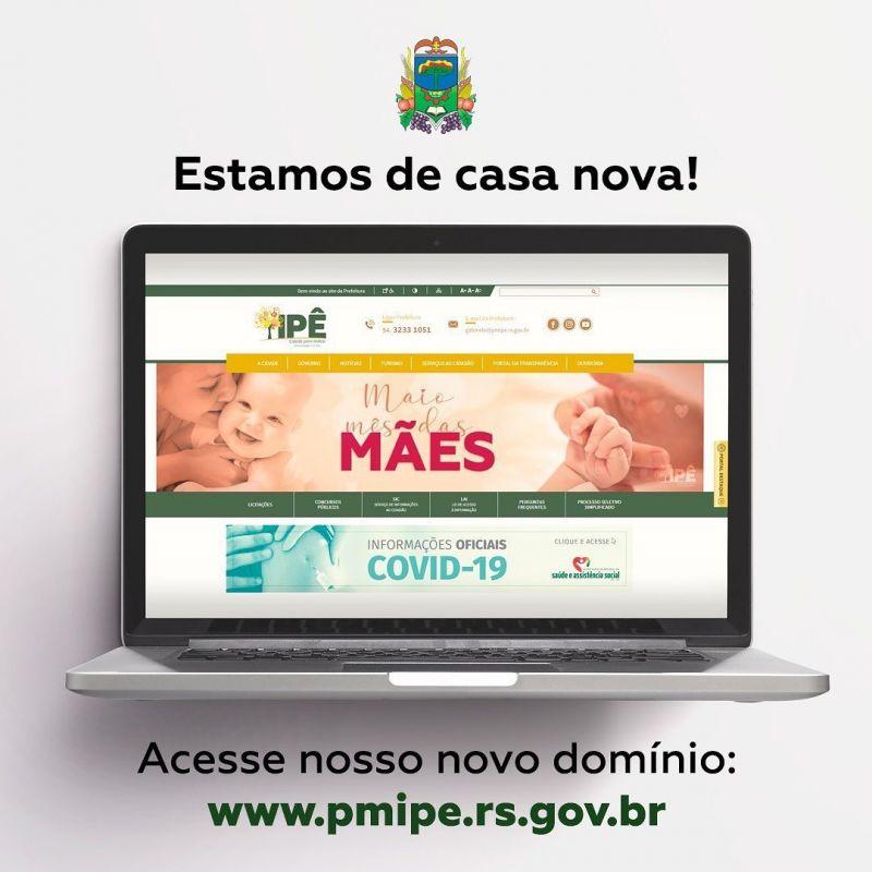 Foto de capa da notícia PREFEITURA AGORA POSSUI DOMÍNIO OFICIAL DO GOVERNO